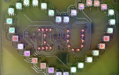 Hướng dẫn làm mạch Led trái tim RGB Version 4.1