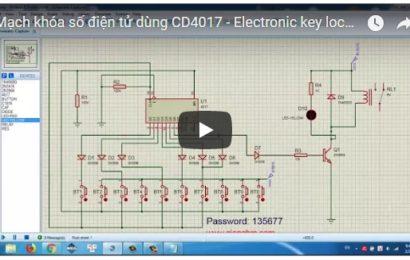 Mô phỏng mạch khóa số điện tử dùng CD4017