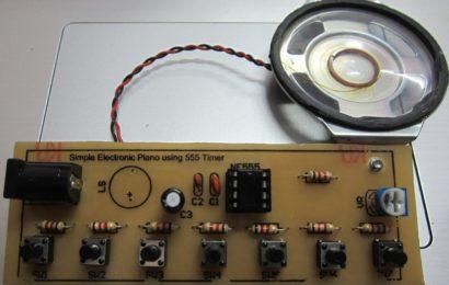 Piano điện tử đơn giản dùng IC 555 – Simple Electronic Piano using 555 Timer