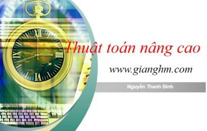 Slide bài giảng thuật toán nâng cao – Nguyễn Thanh Bình
