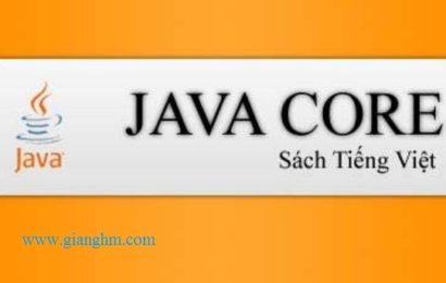 Java core – ebook tiếng việt học java cơ bản