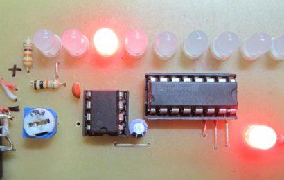 Mạch LED Chaser sử dụng NE555 và CD4017