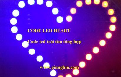 Tổng hợp code led trái tim cho 8051 dạng .hex