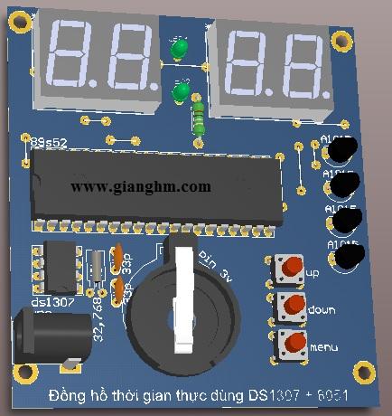 mạch đồng hồ DS1307