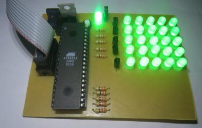 Mạch led matrix 5×5 – lập trình sử dụng 8051