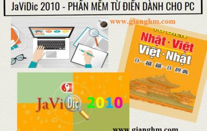 JaViDic 2010 Final – Từ điển Nhật – Việt – Anh tốt nhất