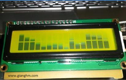 Mạch nháy theo nhạc dùng atmega8 hiển thị  LCD 1602