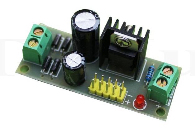 Mạch ổn áp dùng LM7805