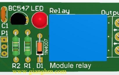 Module relay 1 kênh 12V dùng BC547