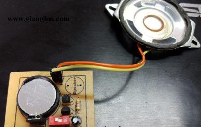 Mạch phát nhạc dùng UM66T XX L/S – Siêu nhỏ, siêu đơn giản, siêu hay