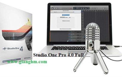 Studio One Pro 4.0 Full – Phần mềm chỉnh sửa nhạc chuyên nghiệp