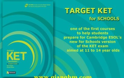 Target KET for Schools Full Ebook + Audio CD free