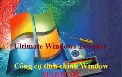 Ultimate Windows Tweaker for Win 7/8/10 – Công cụ tinh chỉnh Window mạnh mẽ