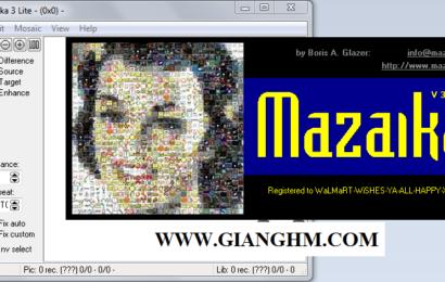 Mazaika 3.5 full: Phần mềm giúp ghép nhiều ảnh nhỏ thành ảnh mozaic cực 'độc'