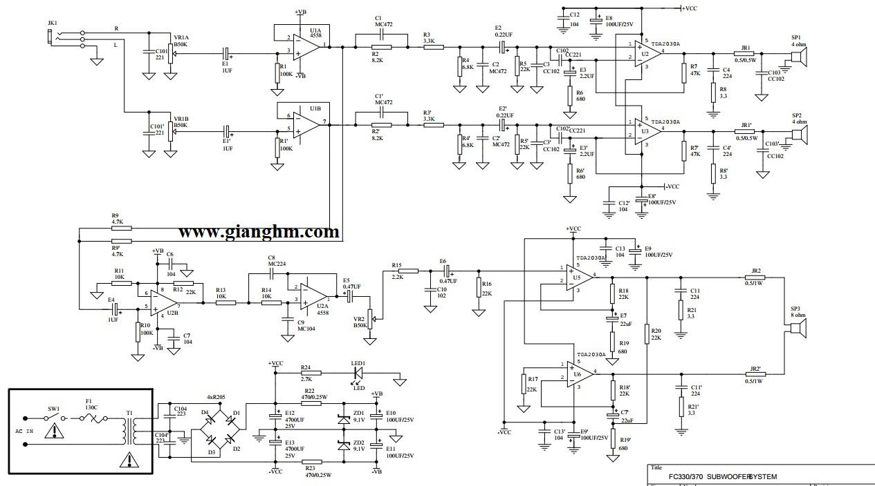 mạch nguyên lý loa microlab