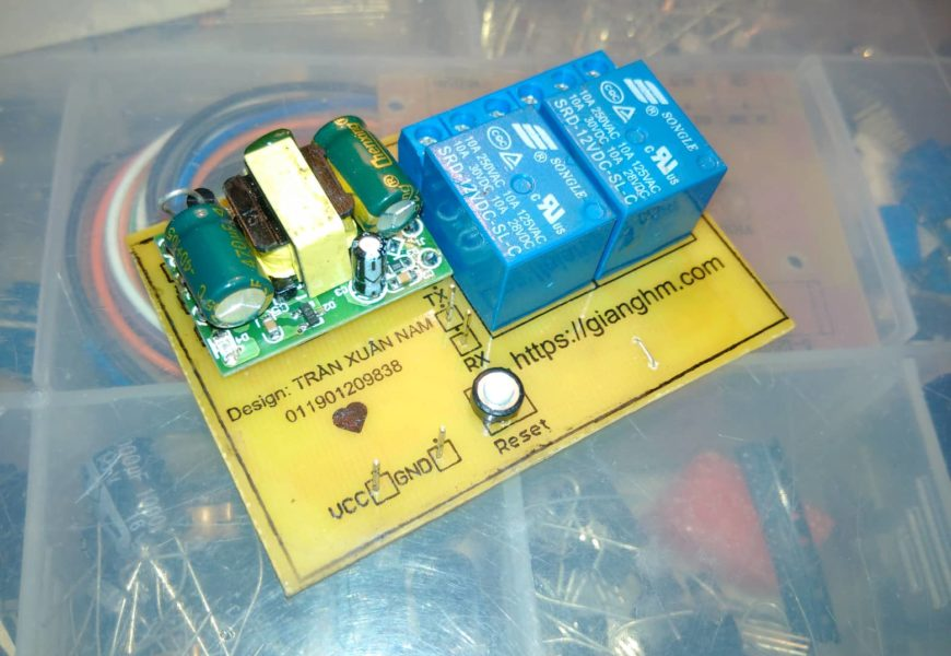 Module điều khiển thiết bị qua Wifi bằng điện thoại