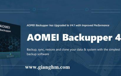 AOMEI Backupper 4.1 2018 Full – Sao lưu phục hồi dữ liệu trên Windows