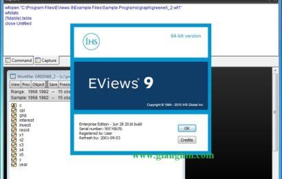 Eviews 9.5 đầy đủ – phần mềm học thống kê và kinh tế lượng tốt nhất