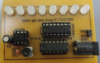 Mạch ghi dịch dùng IC 74595 + NE555 – KD0026